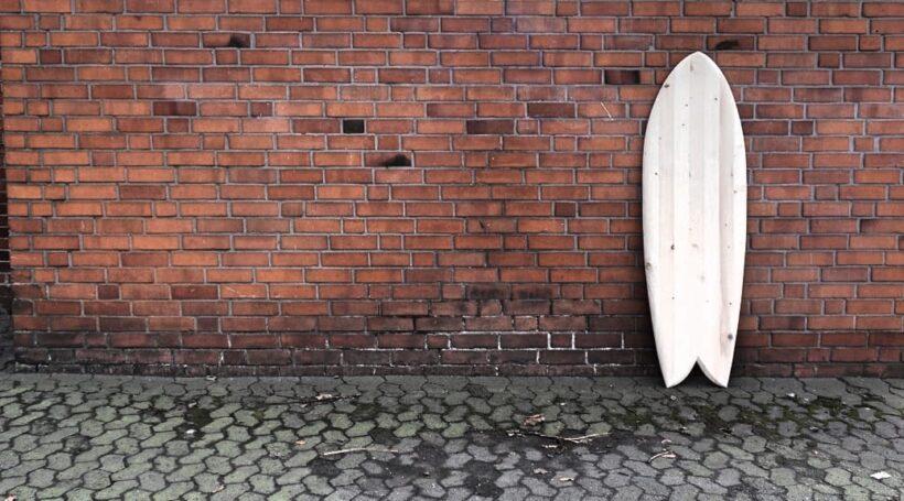 Quadfish Wooden Surfboard