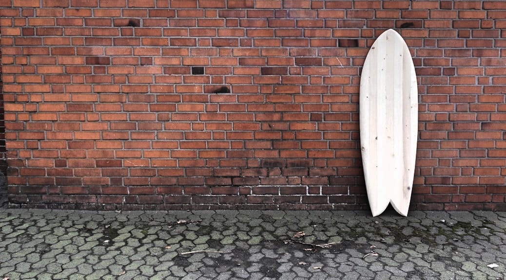 Quadfish Wooden Surfboard