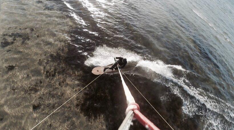 Wooden Alaia Surfing