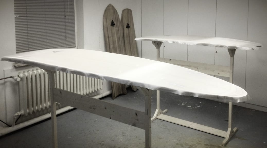 Wooden Surfboards Glassing