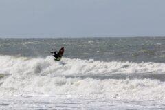 Überqueren der steilen Wellen