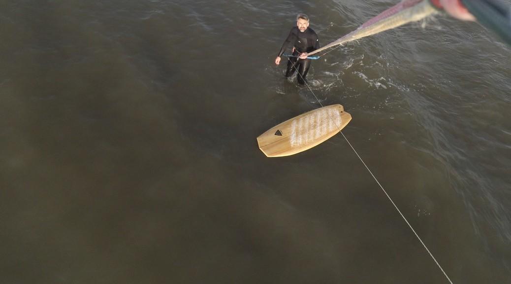 Kitesurfing am unteren Windlimit