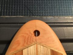 Eingefräster Leash-Plug