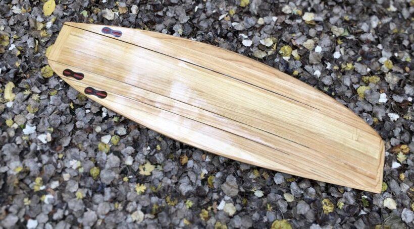 Wooden Asymmetrical Surfboard
