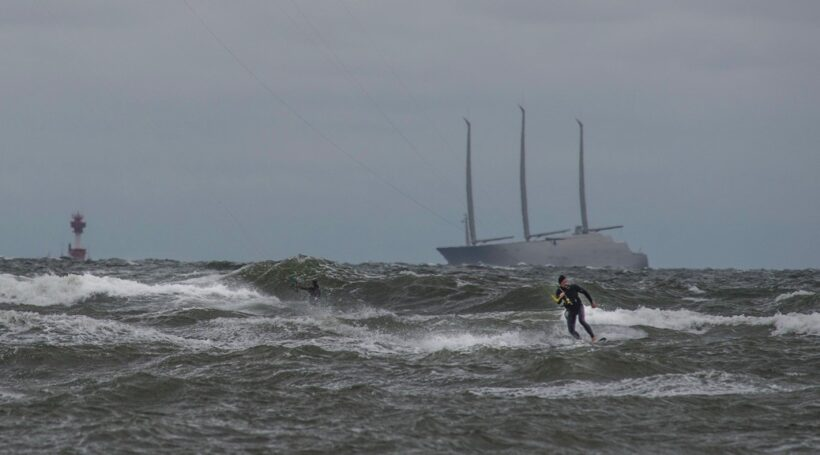 Wellen in Heidkate am 6. Oktober 2016