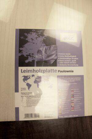 Leimholzplatte aus Paulownia von BAUHAUS