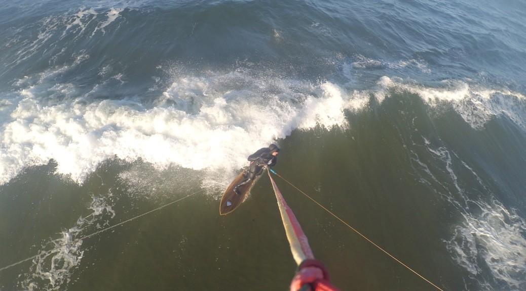 Kitesurfen im November in Bottsand / Kiel