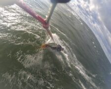 Test des asymmetrischen Surfboards