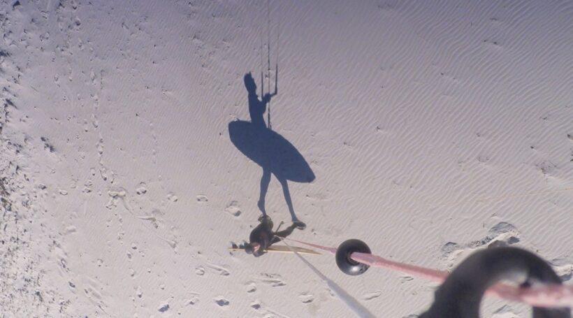 Moonwalk - schwerelos mit dem Kite zum Wasser gehen