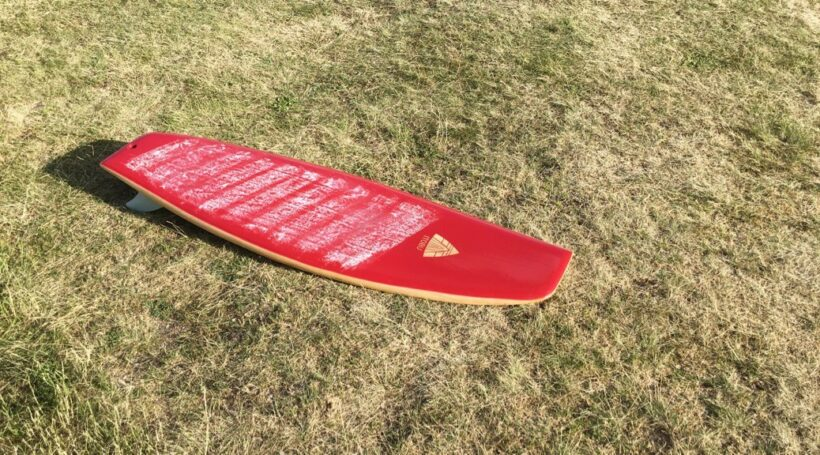 Asymetrical Wooden Surfboard