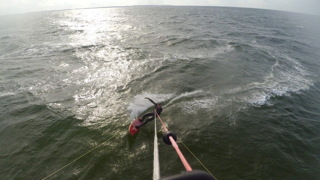 Red Asymmetrical Surfboard