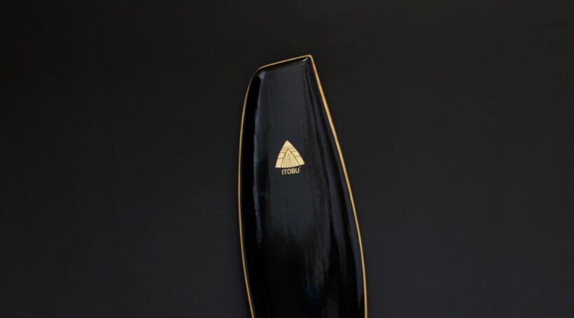 Parallelogramm Surfboard schwarz lackiert