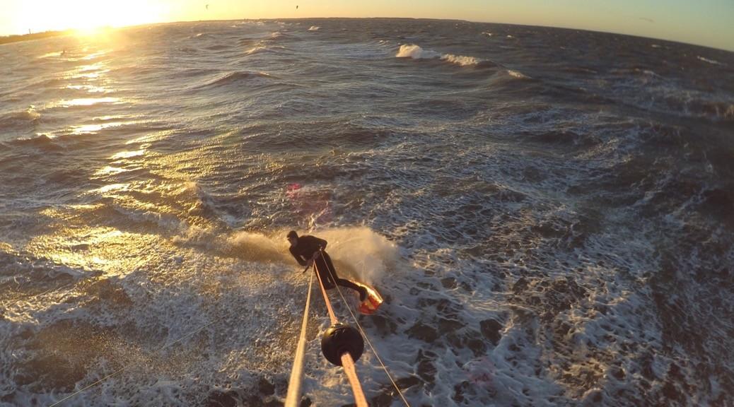 Kitesurfen im Herbststurm Herwart