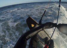 Abheben beim Überqueren der Welle