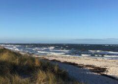 Blauer Himmel und kleine Wellen in Heidkate