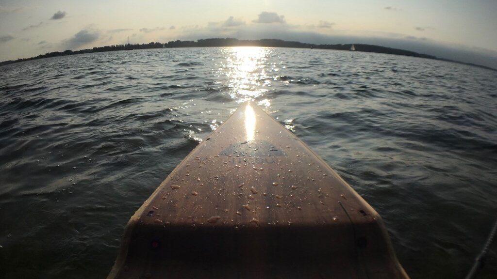 Sonnenuntergang auf Kieler Förde
