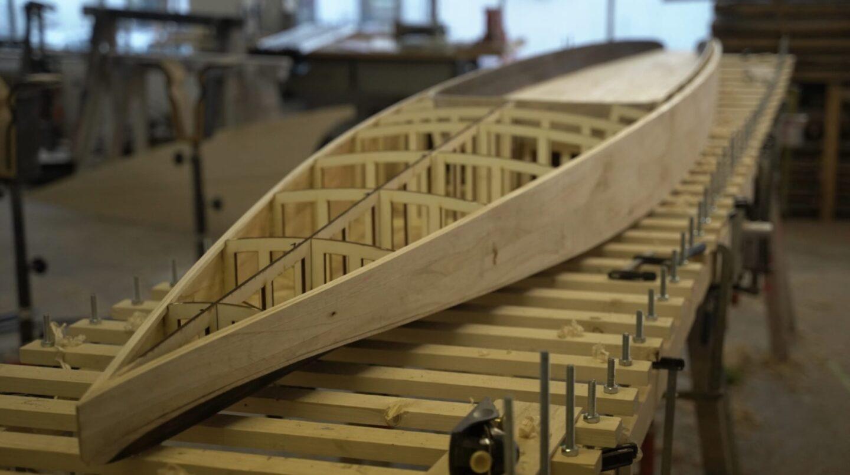 Hollow-Wood-Konstruktion aus gelaserten Birkensperrholz
