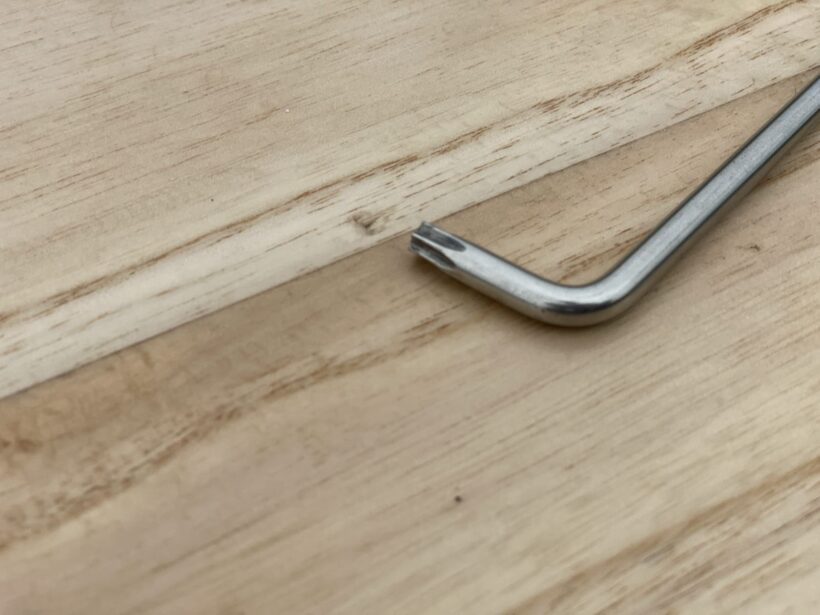 Macke durch herunter gefallenen Inbus-Schlüssel