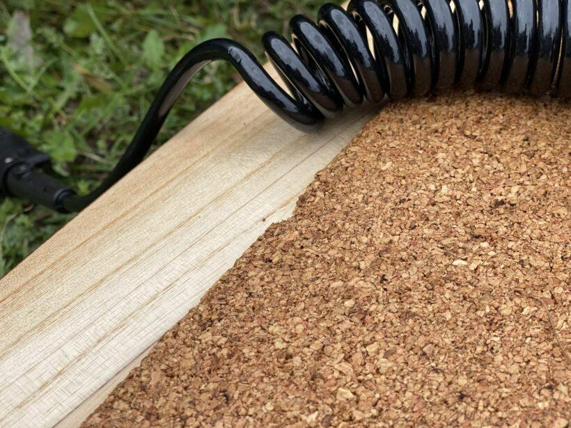 Korkpad angefressen durch Spiral-Leash